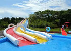 Customized Inflatable Slip N Slide Double Slip N Slide With Pool Fire Retardant