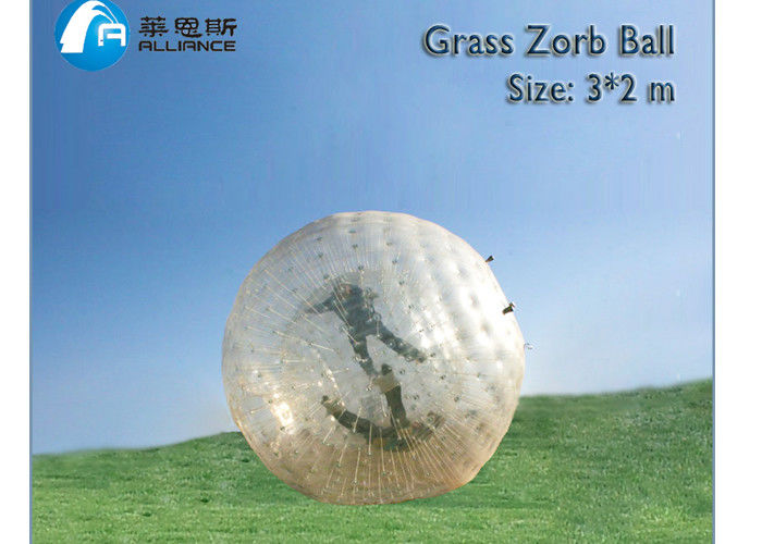Land Zorb Ball Outdoor Inflatable Grass Zorb Ball Transparent Color