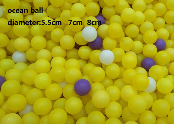 Plastic Ocean Ball Inflatable Ball Game 5.5cm Diameter Pit Ball For Kids Playground
